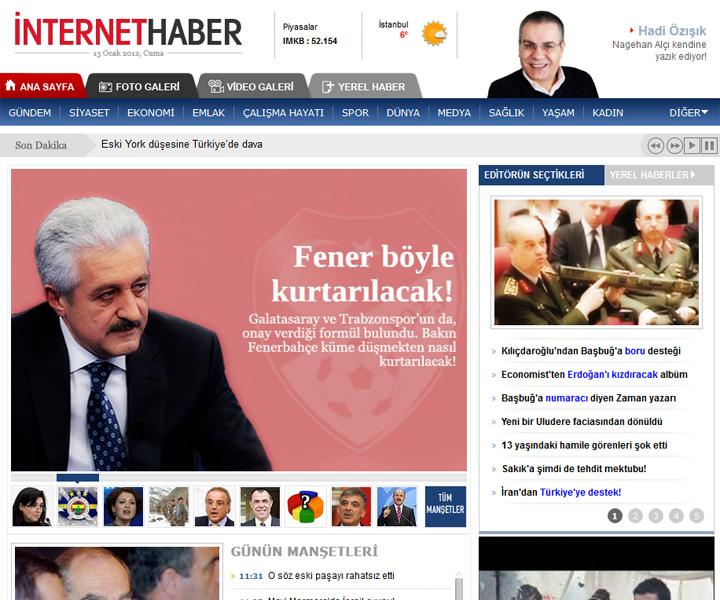 İnternethaber CM News Özel Çalışma ve Sunucu Bakım Hizmeti